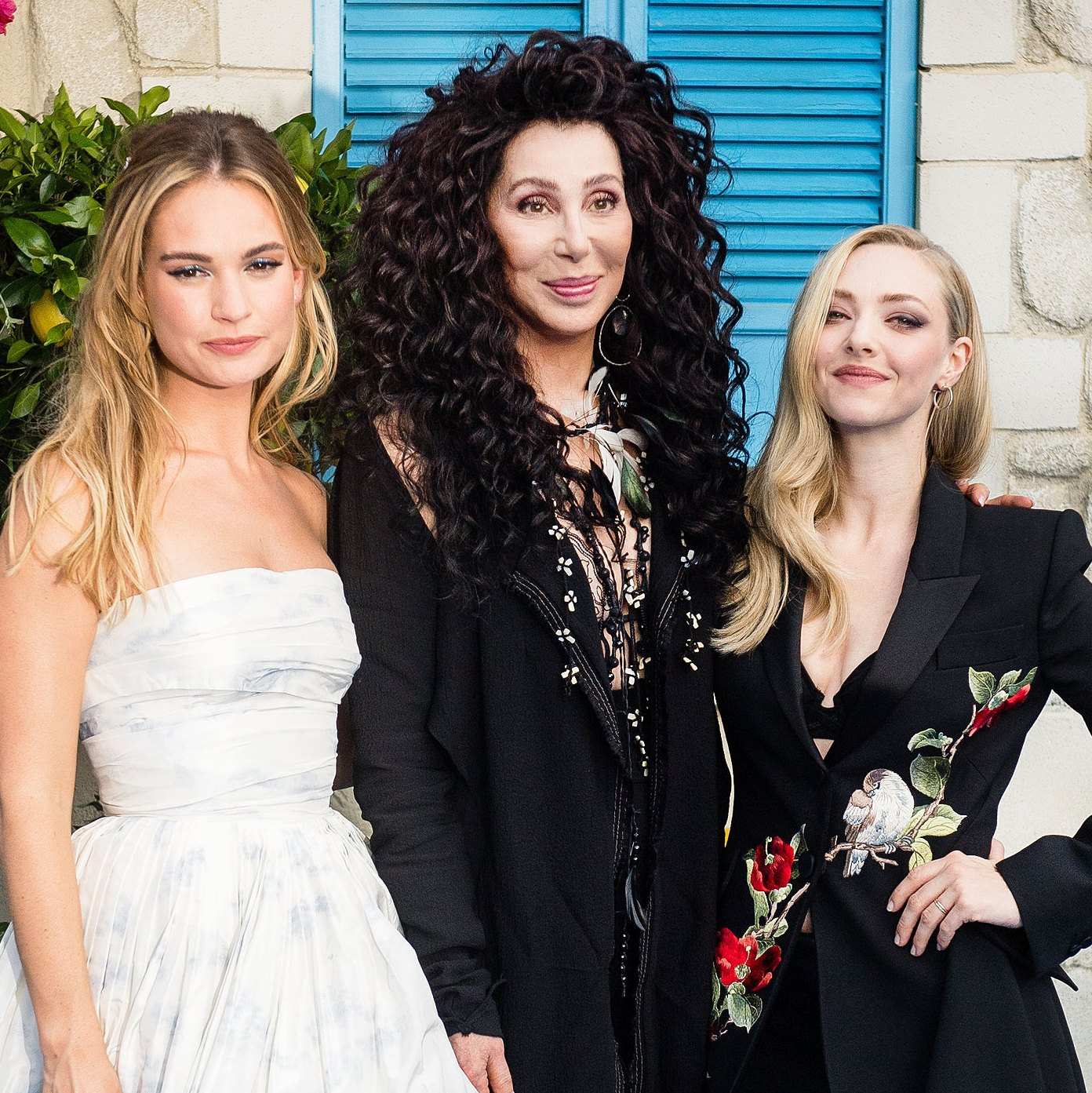 Lily James, Cher and Amanda Seyfried
