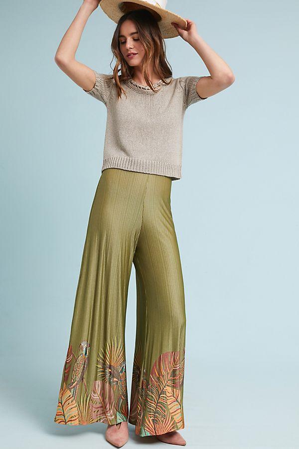 Shop Our Fave Farm Rio Wide Leg Palm Print Pants From