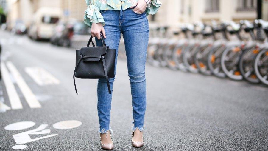 woman in skinny jeans