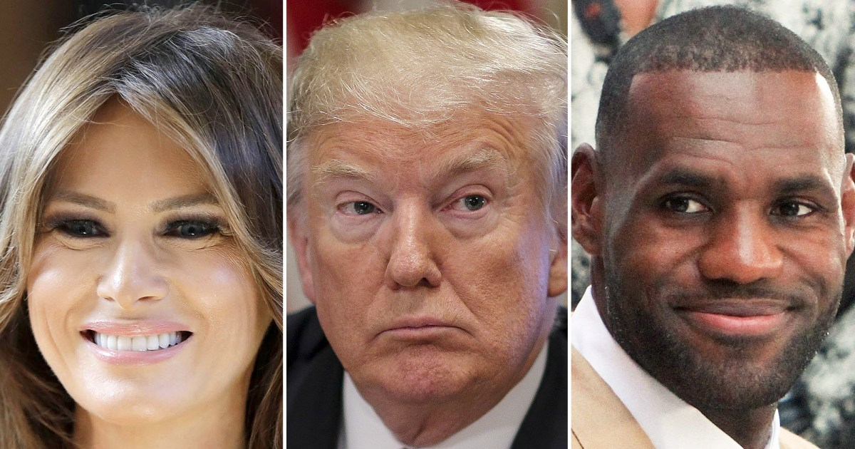 a3bb7b278c5 Melania Trump Sides With LeBron James After Husband Donald Slams Him