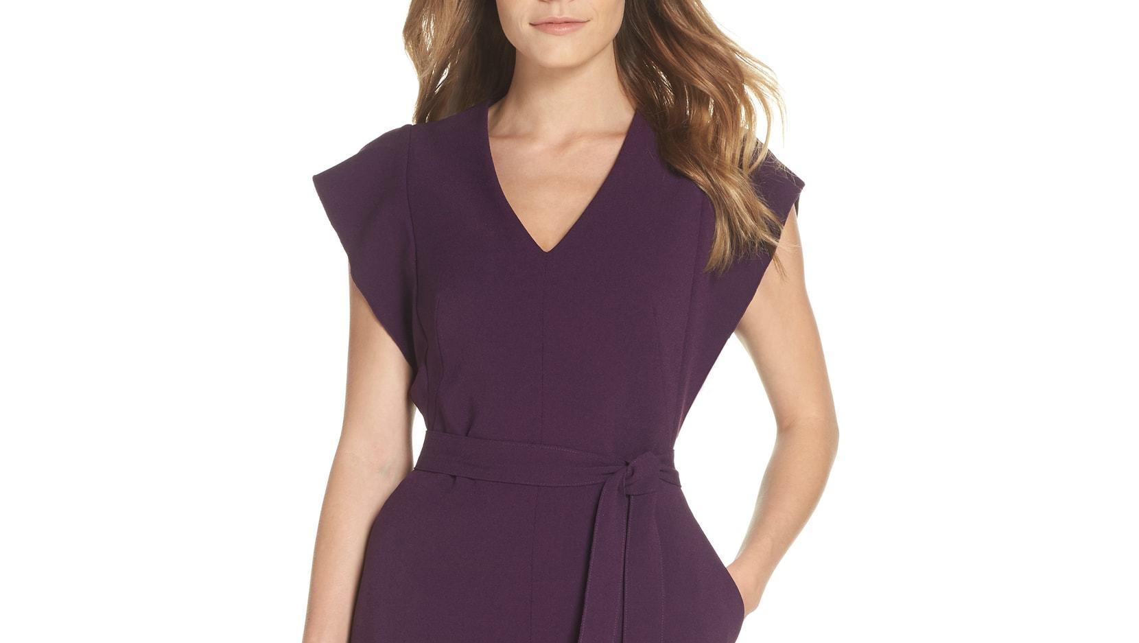 plum sheath dress eliza j