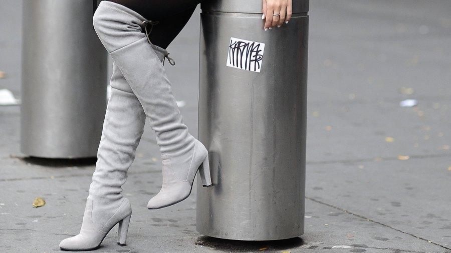 grey suede over the knee stuart weitzman boots