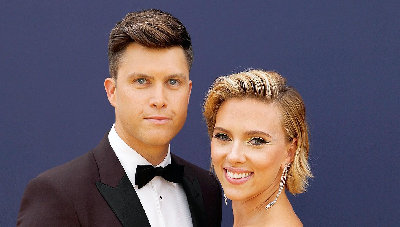 Scarlett Johansson Colin Jost Emmys 2018