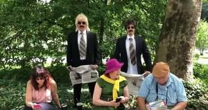 Justin Bieber et Jimmy Fallon passent inaperçus en dansant dans des déguisements à Central Park