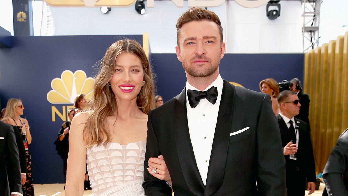 Justin Timberlake and Jessica Biel Send Son Silas a Sweet Hand Signal While at Emmys 2018