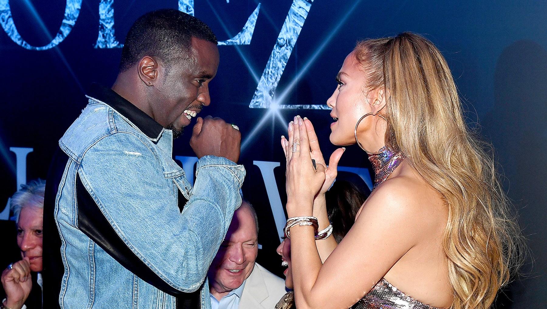 Jennifer Lopez Hugs Ex Diddy While Celebrating Her Final Las Vegas Show With Alex Rodriguez