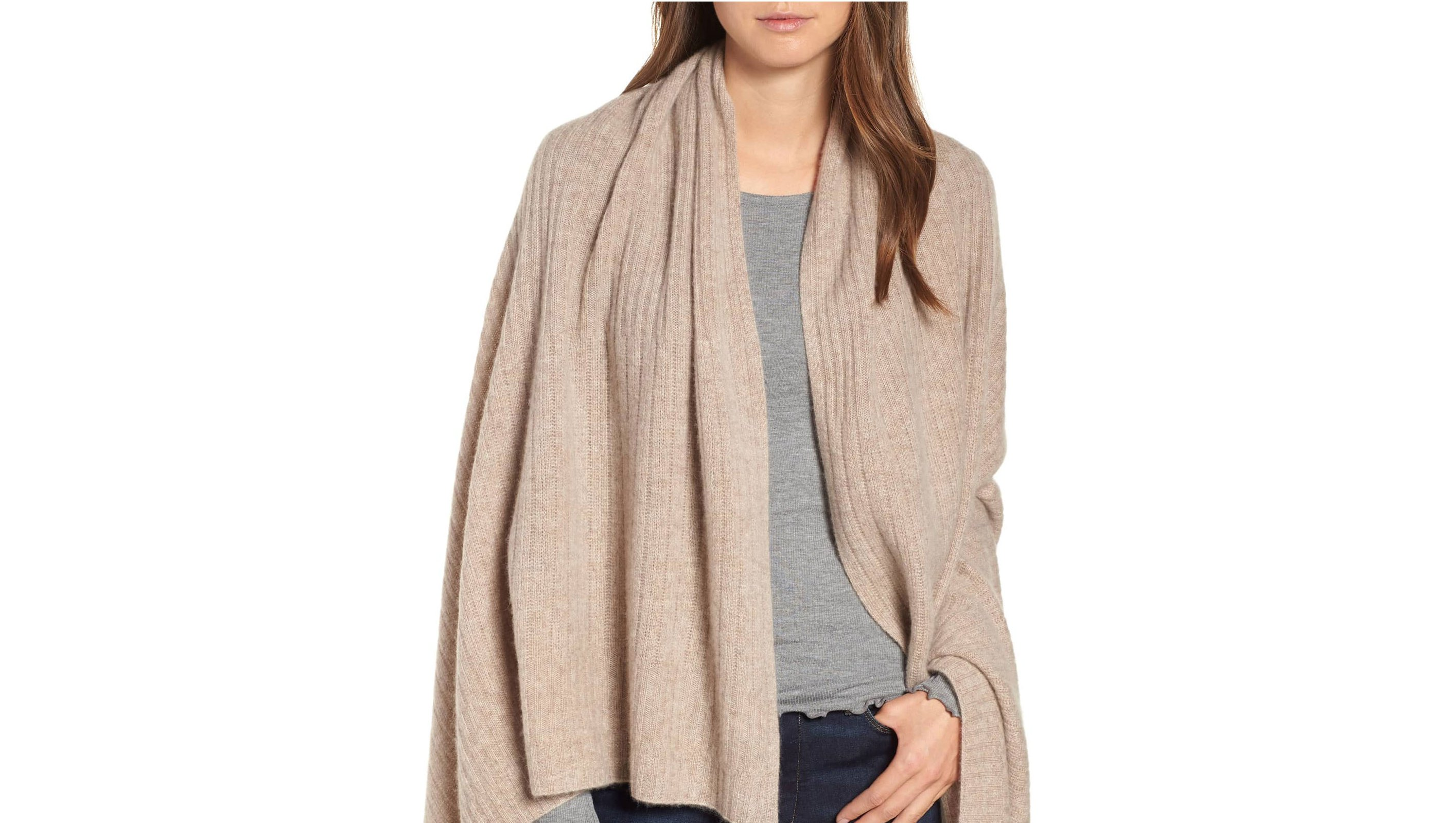 Halogen-Ribbed-Cashmere-Wrap