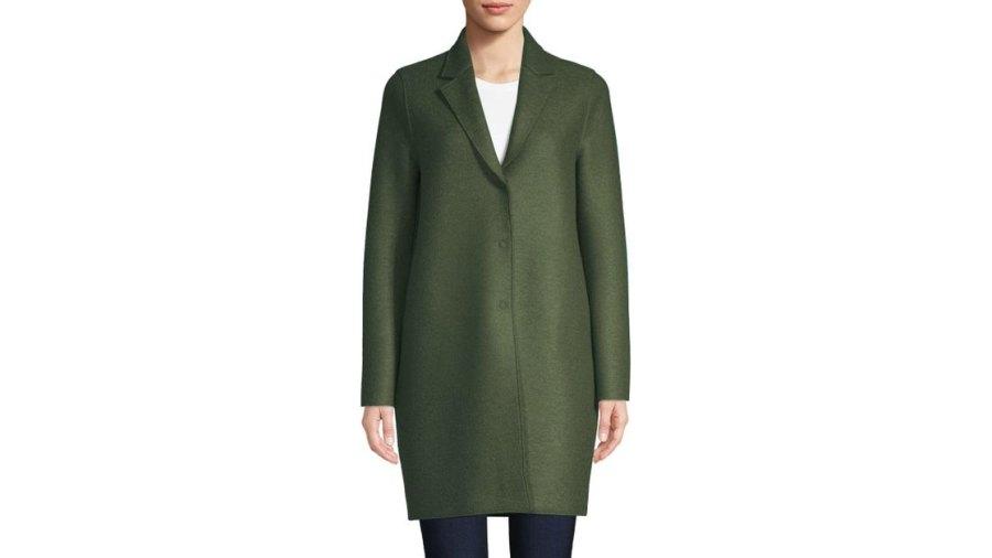 Harris Wharf London Virgin Wool Cocoon Coat