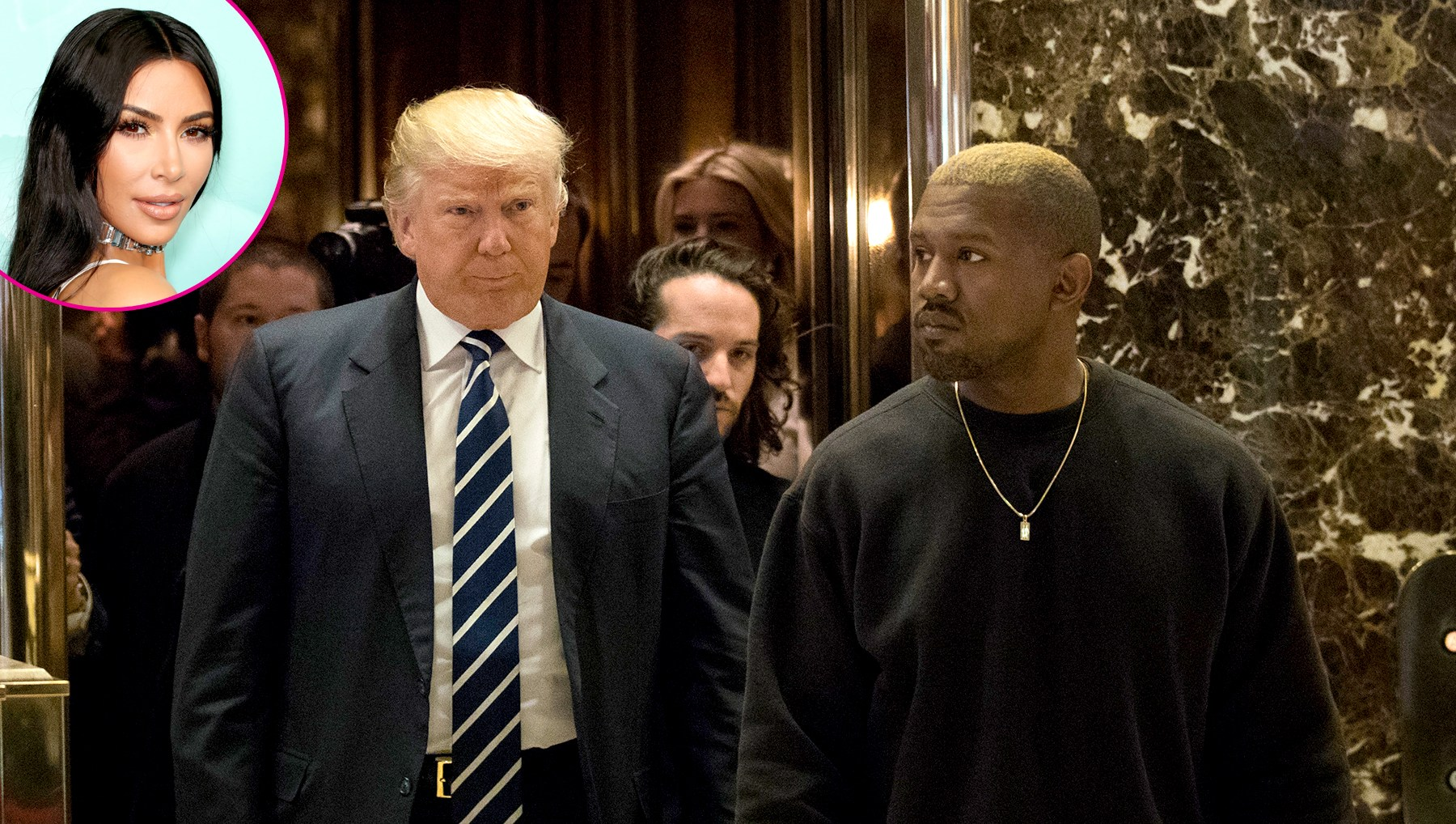 Kim Kardashian Kanye West Donald Trump meeting