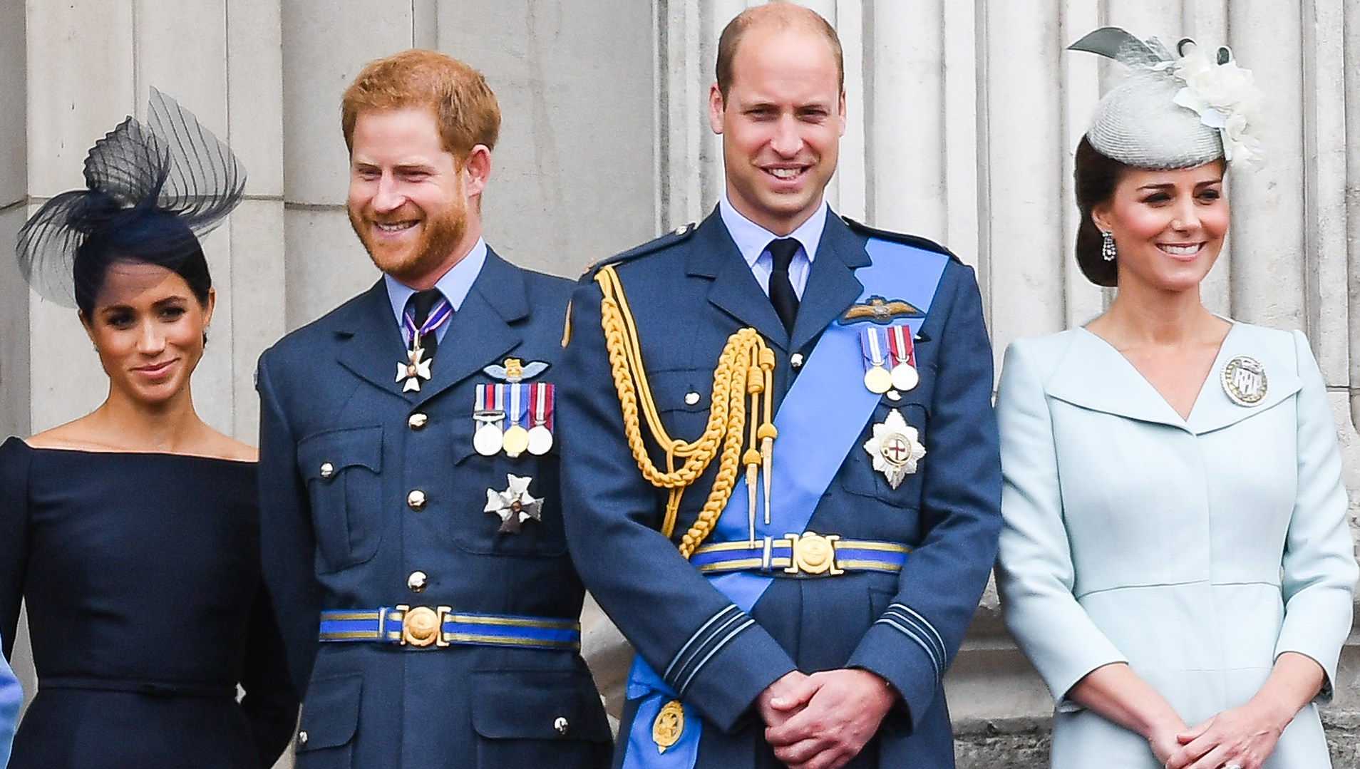 Prince William and Kate Prince Harry and Duchess Meghan Excited