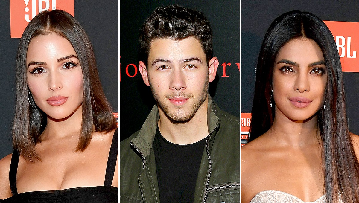 Olivia Culpo, Nick Jonas, Priyanka Chopra