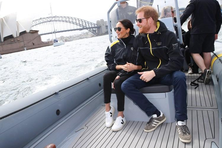 Prince Harry, Duchess Meghan Markle, Invictus Day 2, Royal Tour, Australia, Sailing