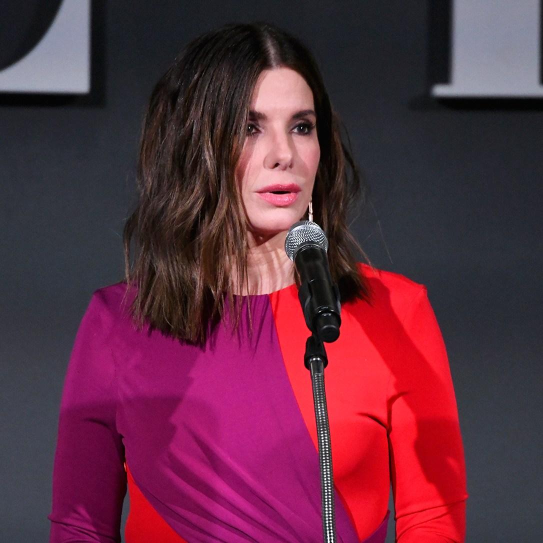 Sandra Bullock speaks onstage