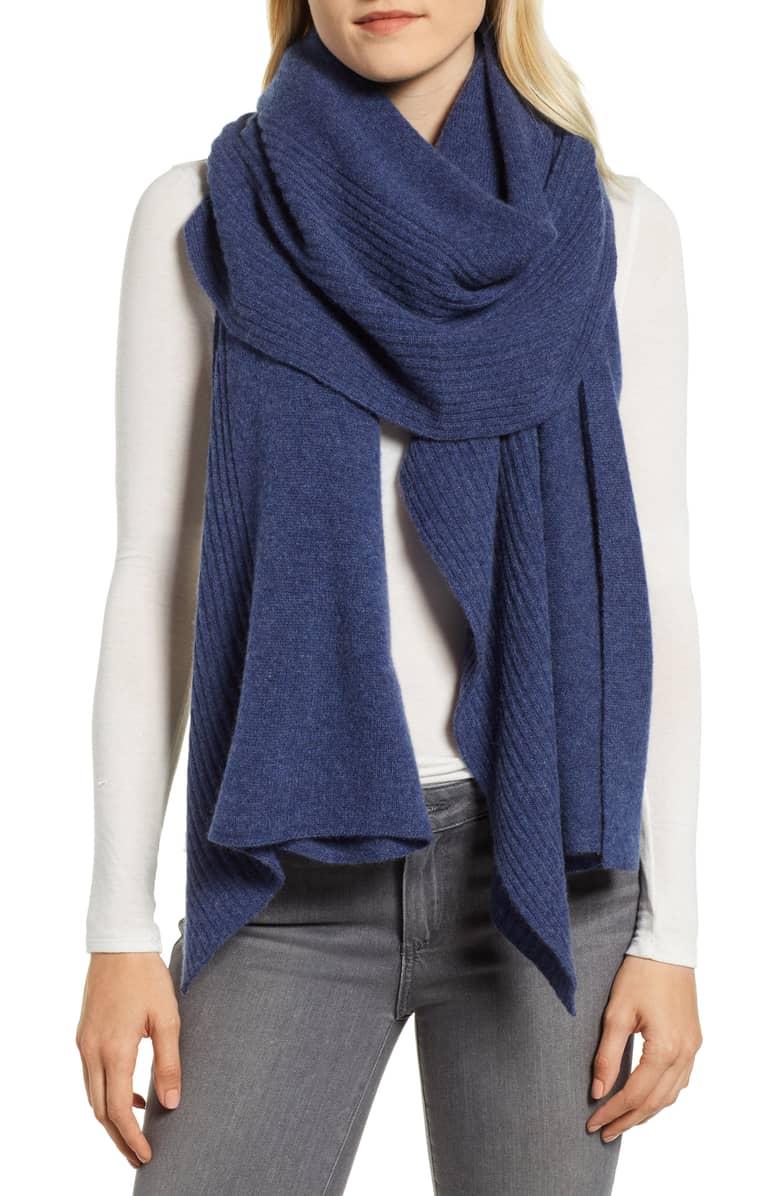 cashmere ruffled scarf