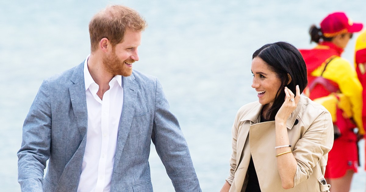 Meghan Tosses a Football, Hits the Beach With Harry in Melbourne: Pics