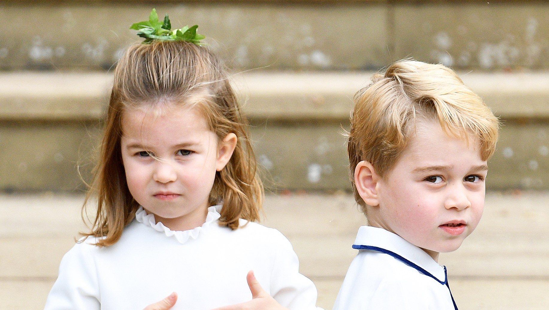 Princess Charlotte Prince George Princess Eugenie Wedding
