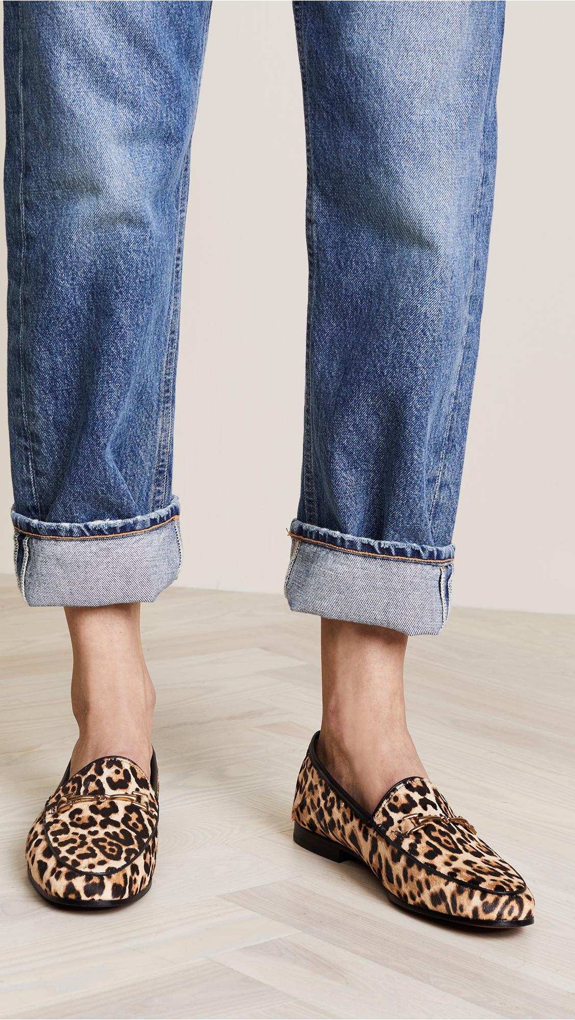 Shop Calf Hair Leopard Print Loafers
