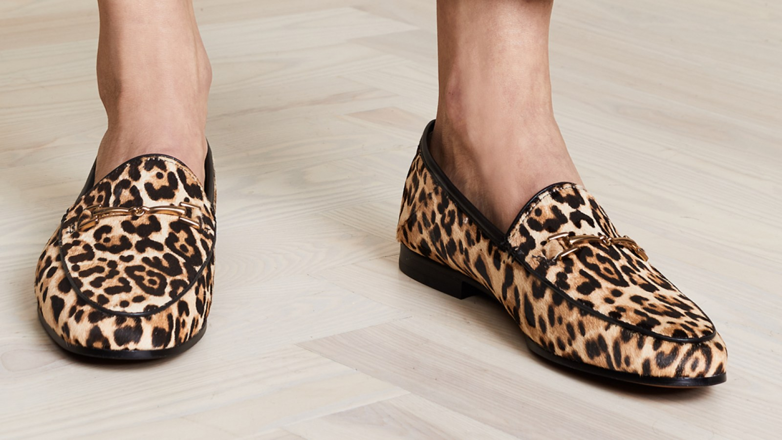 d4067f1a035 We re Taking a Stylish Walk on the Wild Side With These Leopard Loafers. By  Marquaysa Battle. sam edelman flats