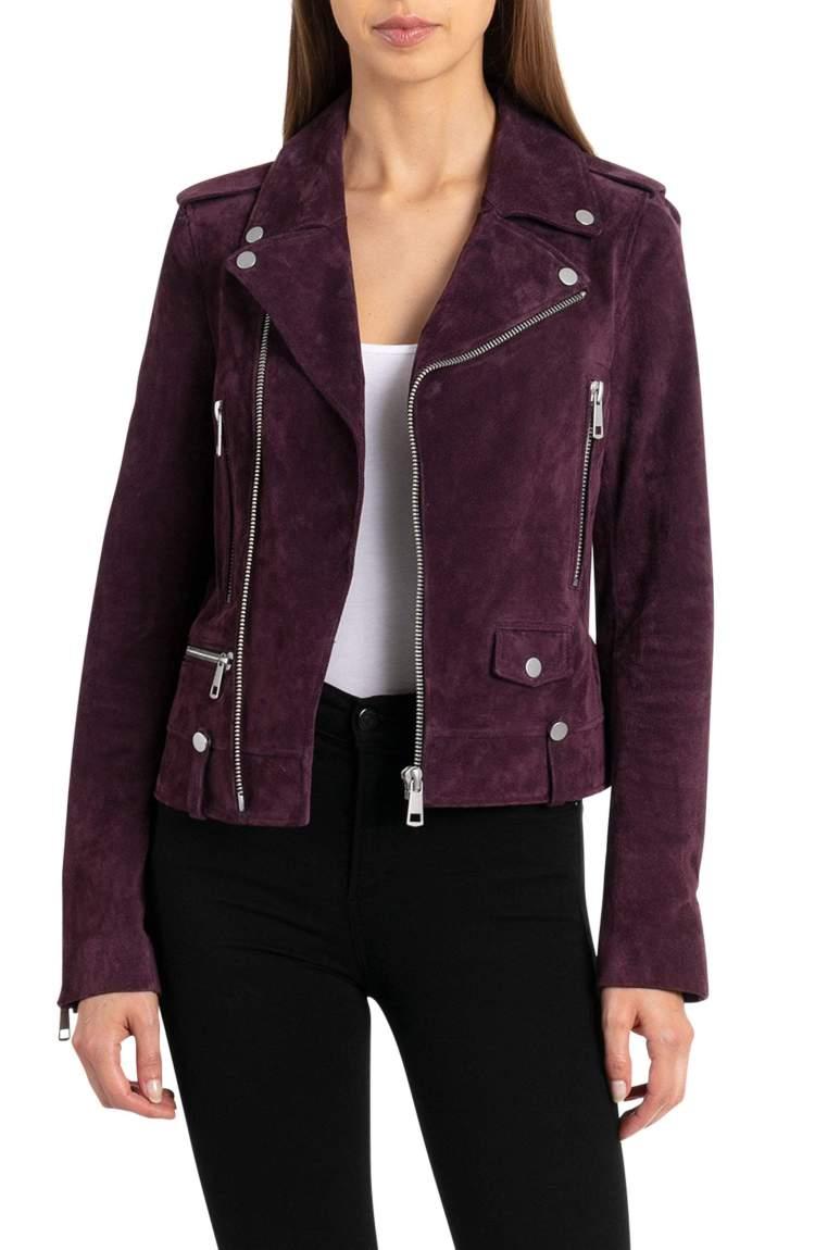 suede perfecto biker jacket bagatelle leather