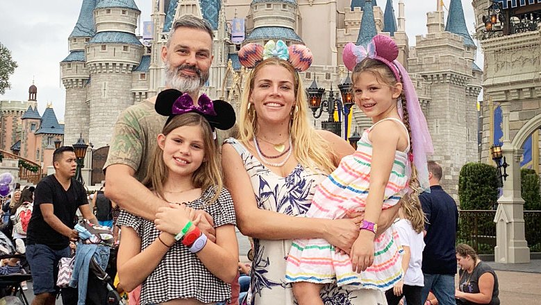 Busy Philipps Coparenting Marc Silverstein Holiday Card