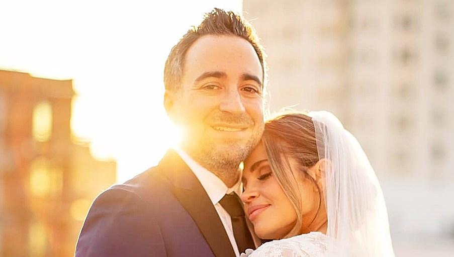 Jensen Karp Danielle Fishel Wedding Photo