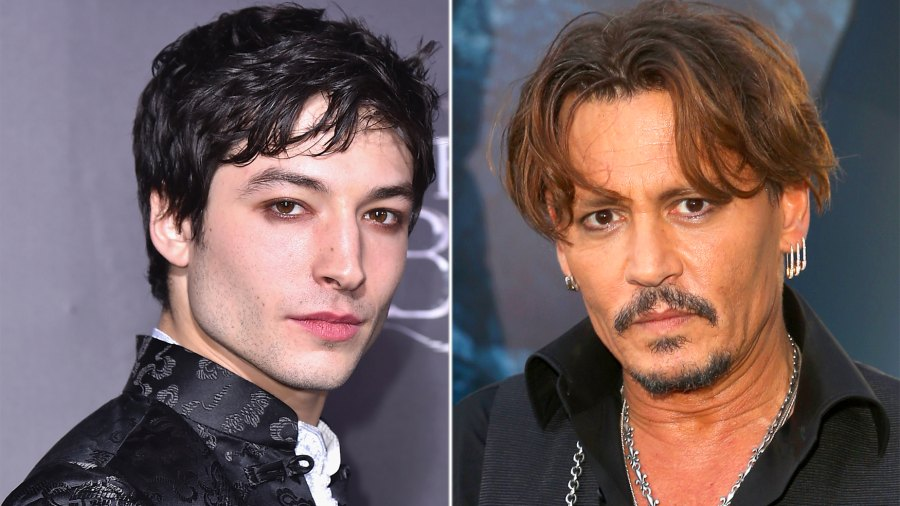 Ezra Miller, Johnny Depp
