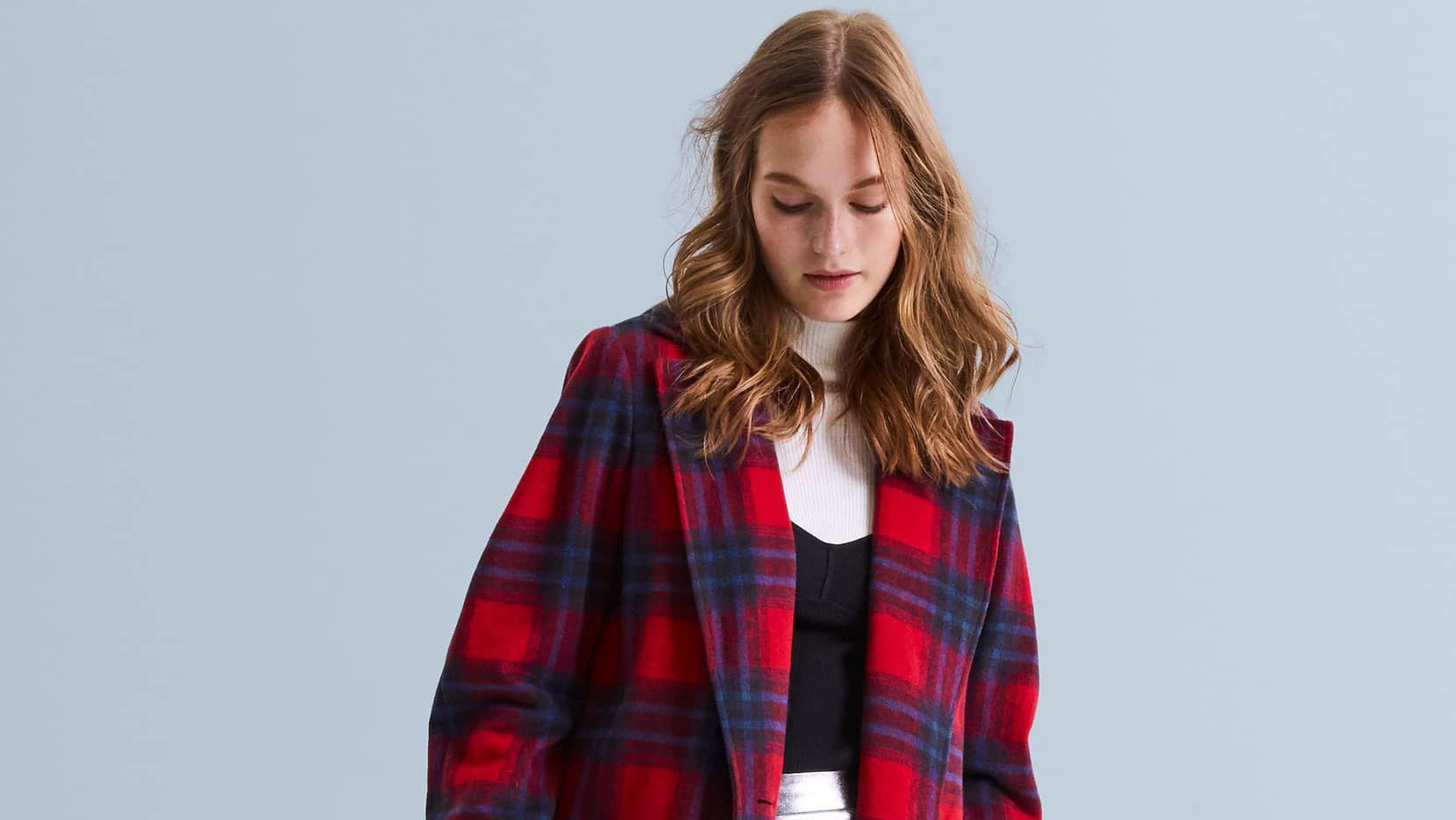 Leith-Single-Button-Plaid-Coat