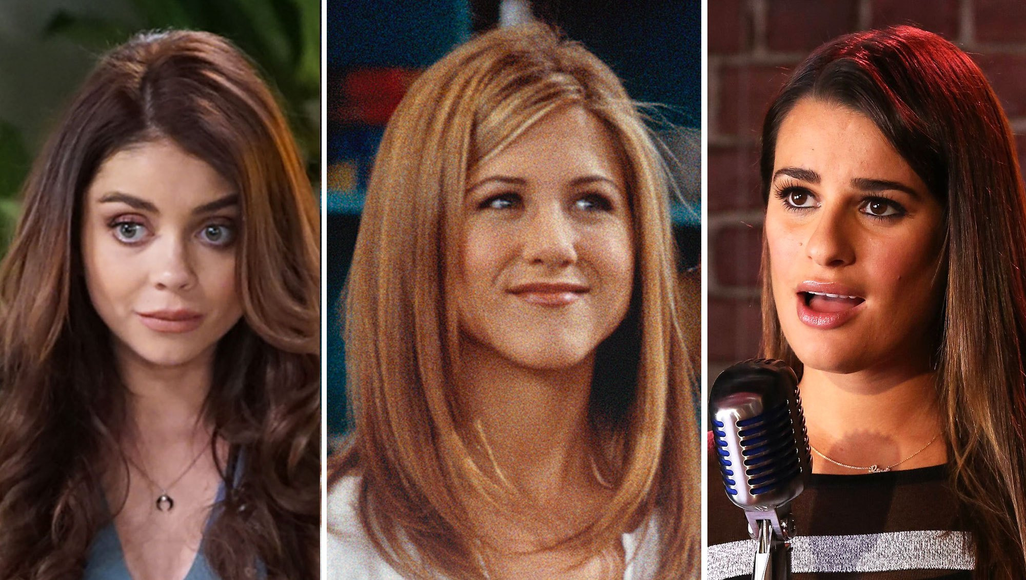 Sarah Hyland, Jennifer Aniston and Rachel Berry