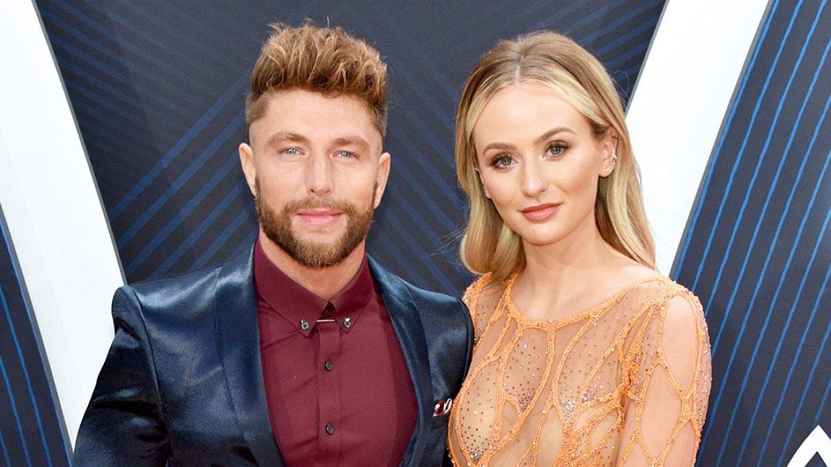 Lauren bushnell boyfriend chris lane attend the cmas 2018 m4hsunfo