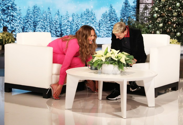 Chrissy Teigen Feet Retouched Photoshoots The Ellen DeGeneres Show
