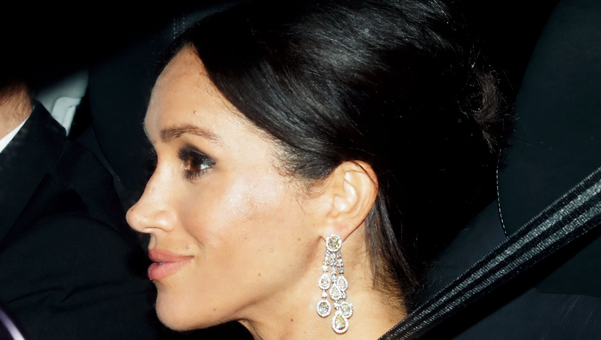 Duchess Meghan Statement Earrings Prince Charles Birthday