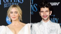 Emily Blunt Brought Daughter Violet Mary Poppins Set Ben Whishaw