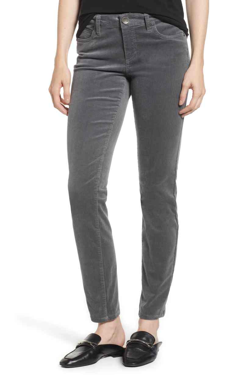 gray skinny pants