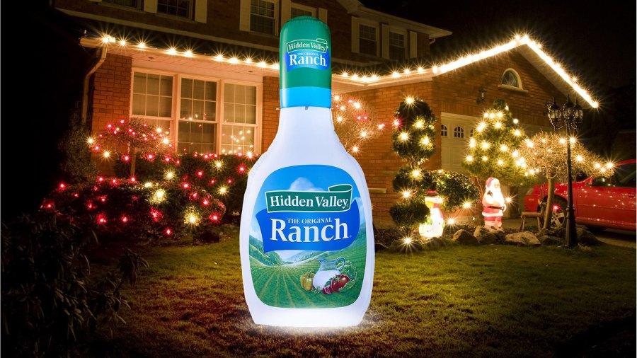 hidden valley ranch christmas blow up