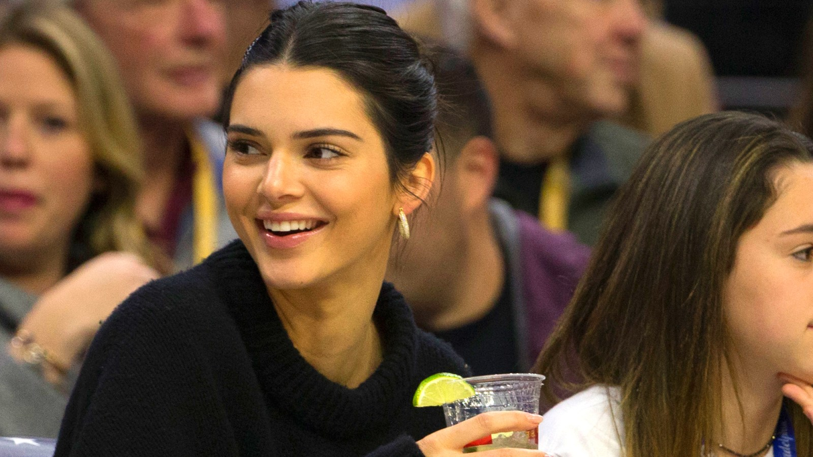 776b2d961 Kendall Jenner Jokingly Boos Tristan Thompson as He Plays Against Ben  Simmons: Photos. By Kathy Campbell