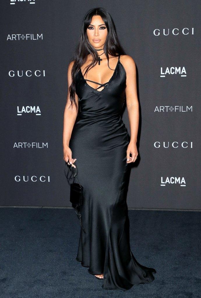 Kim Kardashian Wears Smokey Eye Makeup To The 2018 Lacma Gala