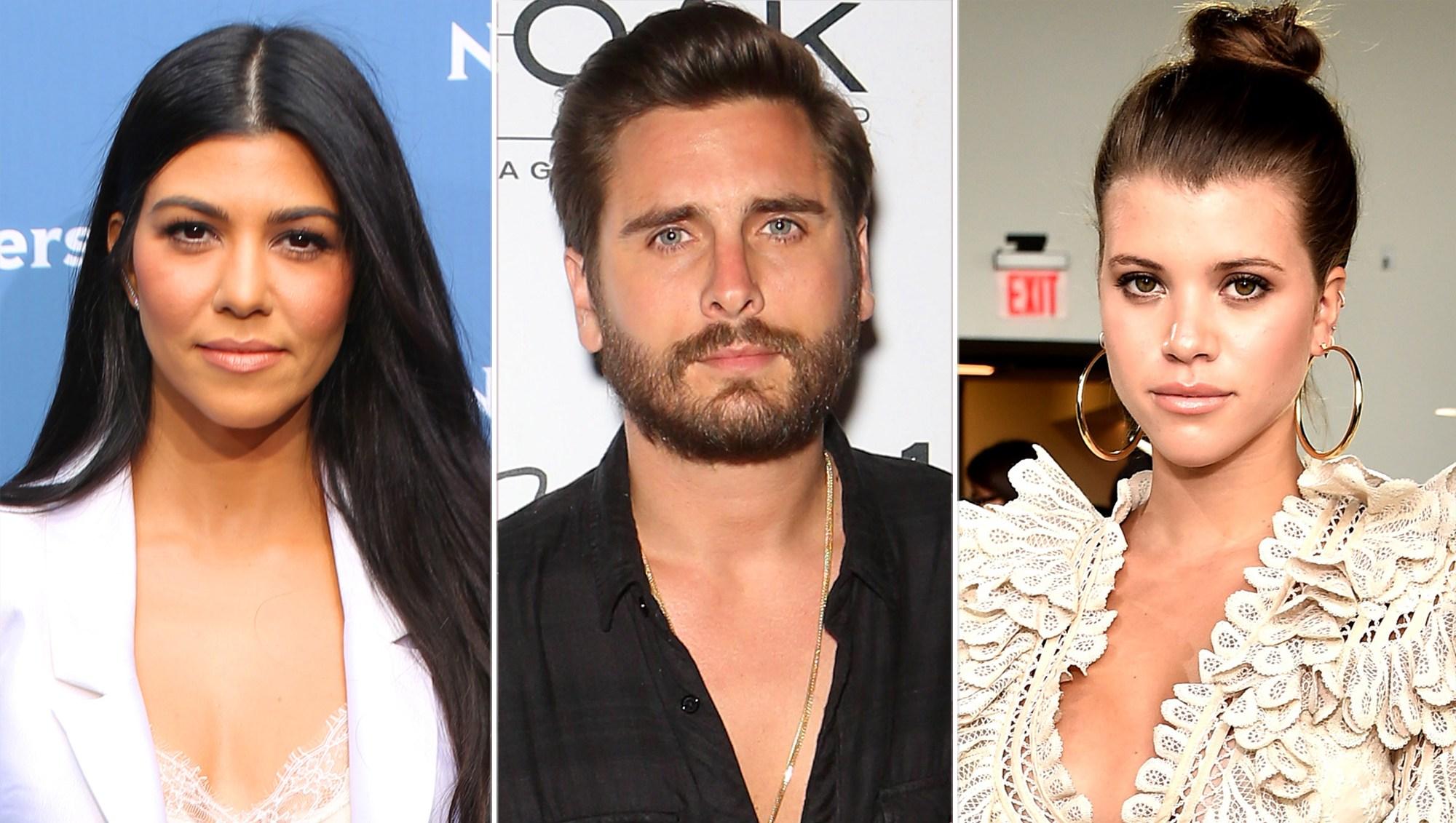 Kourtney Kardashian, Scott Disick, Sofia Richie