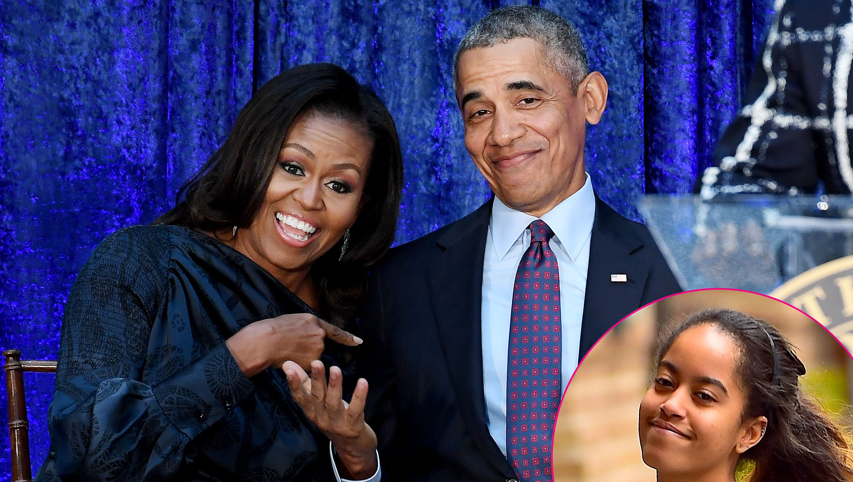 Michelle Obama President Barack Obama Malia Obama