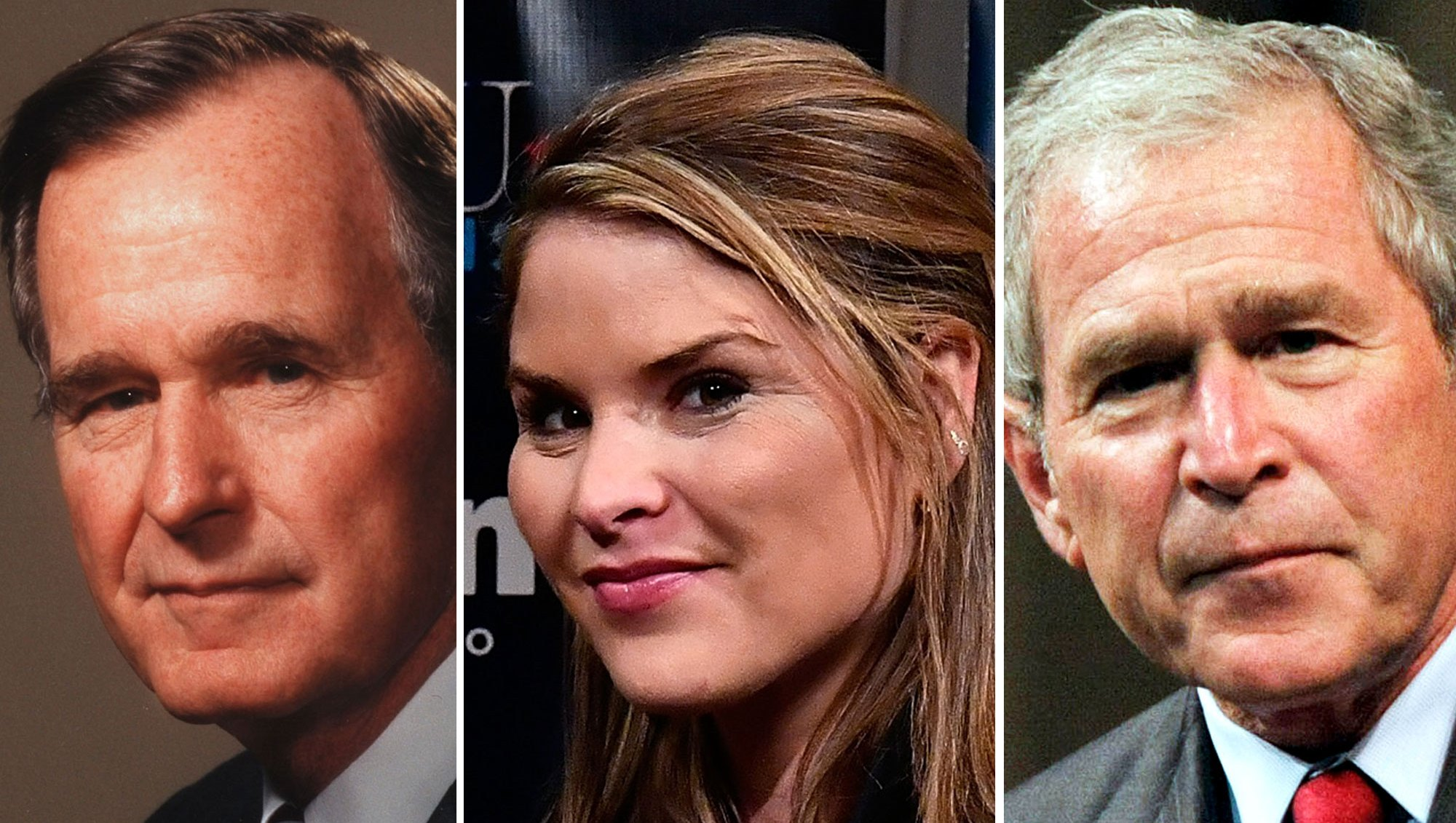 George H.W. Bush, Jenna Bush Hager, and George W. Bush