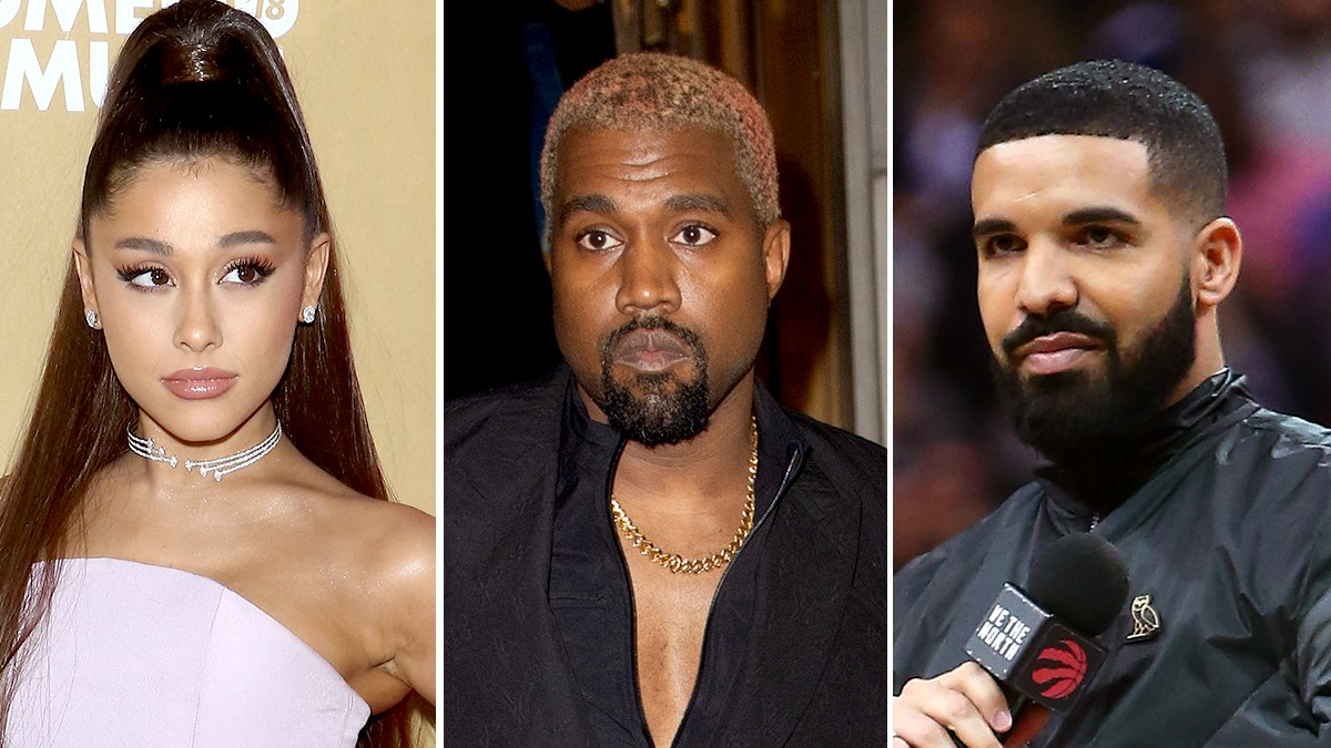 Image result for ariana grande drake and kanye