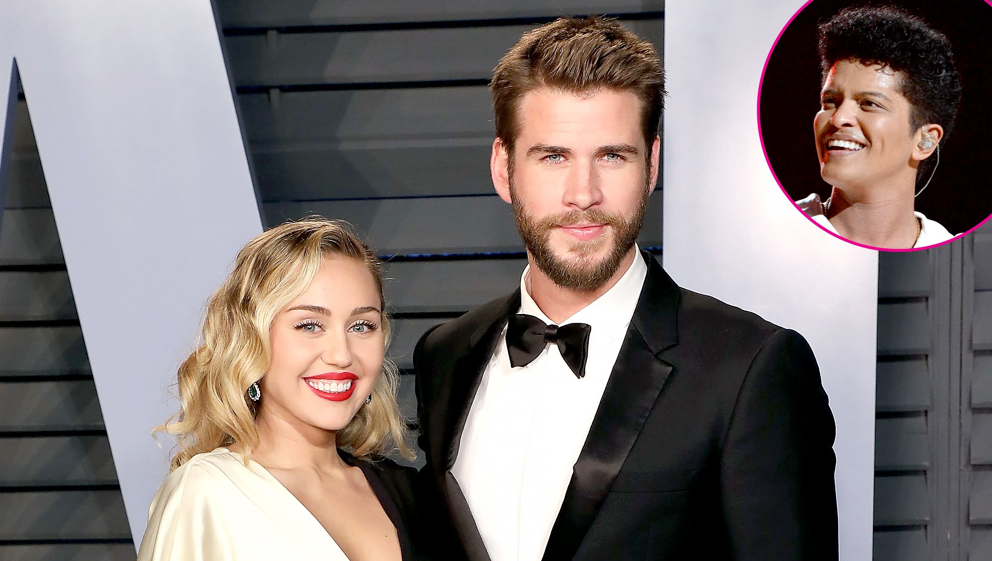 Miley Cyrus dances to Bruno Mars at wedding with Liam Hemsworth
