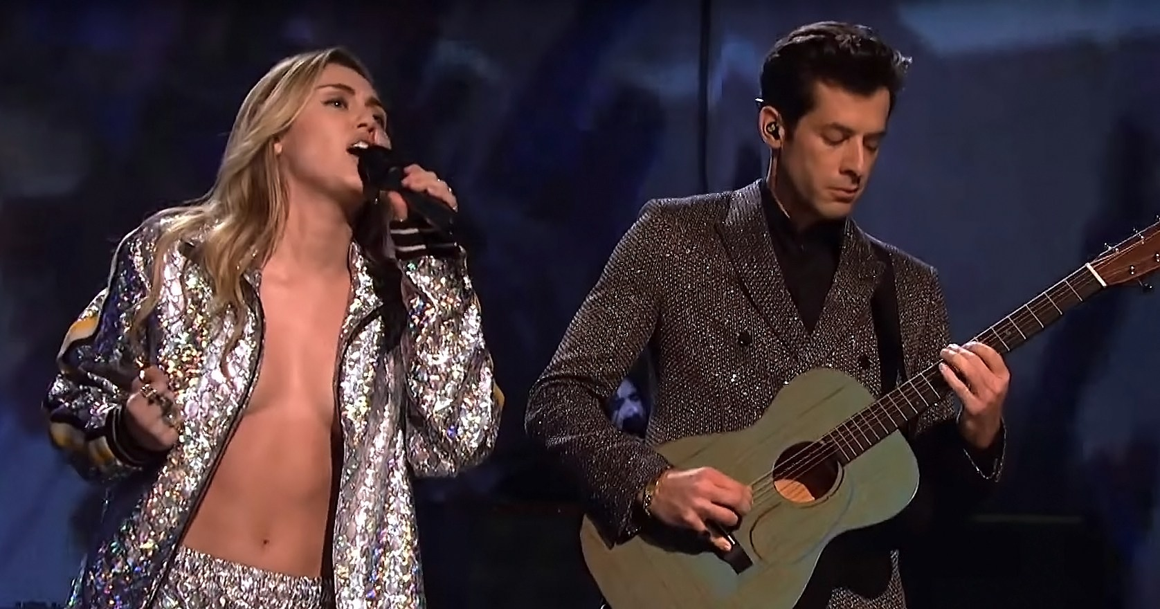 Twitter Goes Wild After Miley Cyrus Risks a Nip Slip During Performance on 'Saturday Night Live'