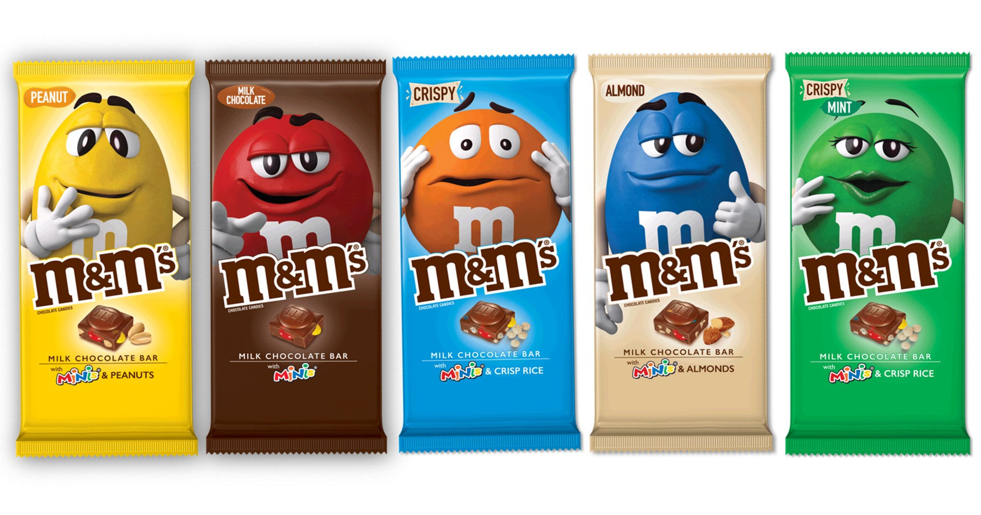 M&M's Chocolate Bars Now Exist, and They Come in 5 Delicious Flavors