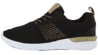 supra sneaker in black gold and white