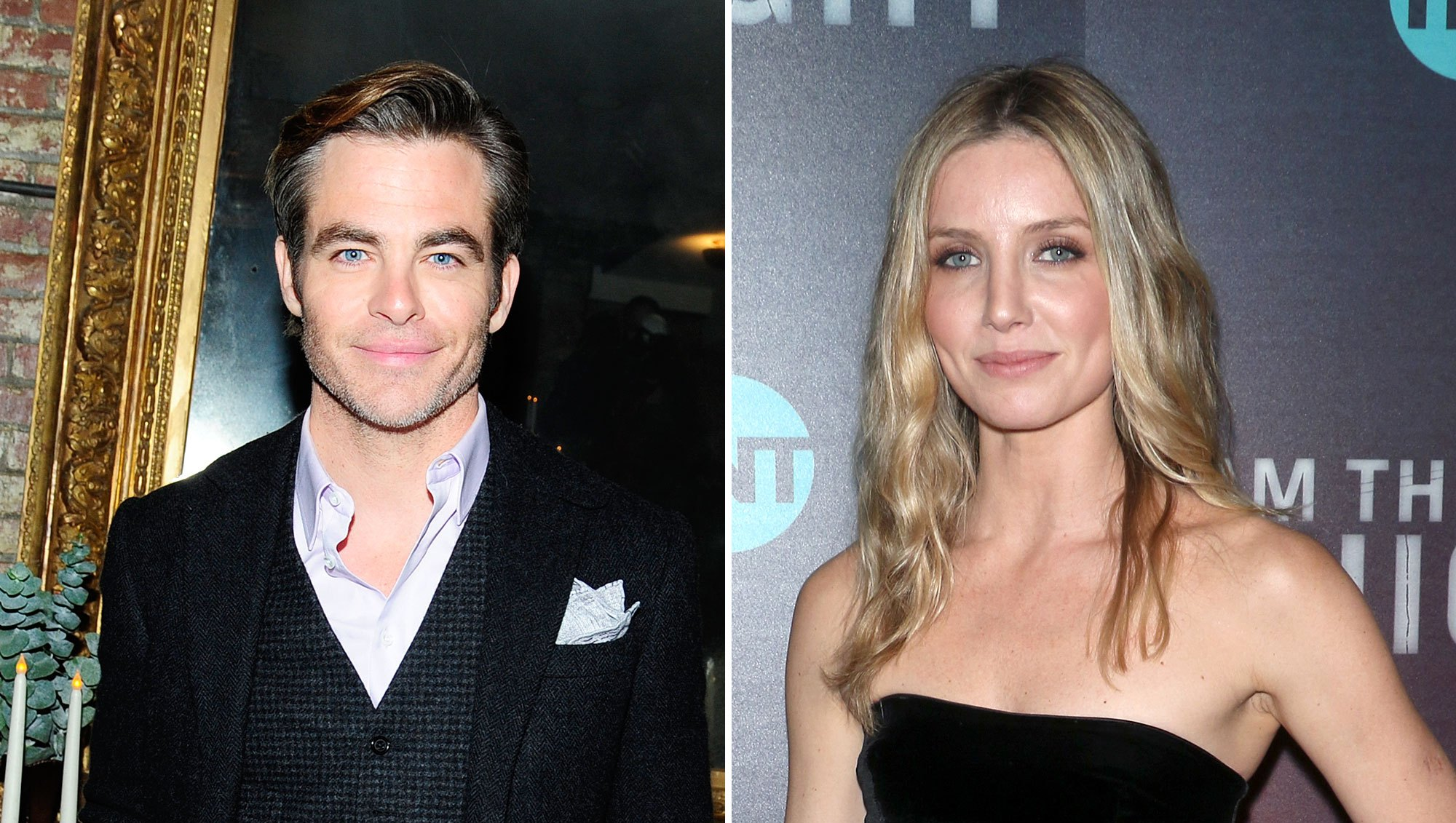 Chris Pine Annabelle Wallis Showed PDA Looked Very Cozy at Afterparty