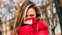 woman in puffer coat