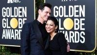 Jim Carrey and Ginger Gonzaga golden globes 2019