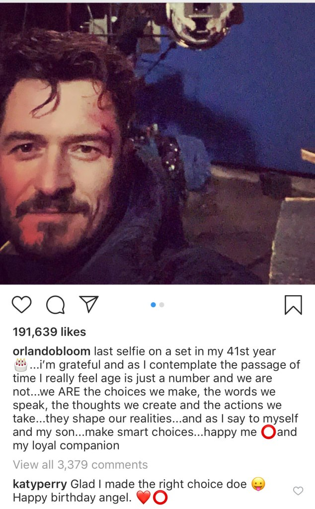 Katy-Perry-Says-She-Glad-Made-the-Right- Choice-Orlando-Bloom-instagram-comment