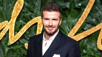 David Beckham Covers Love Magazine In Bright Teal Eyeliner