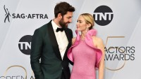 SAG Awards: 2019: Emily Blunt Gushes Over Husband and Costar John Krasinski After 'A Quiet Place' Win